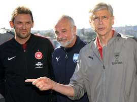 Popovic (left) will become the new Karabukspor coach. AFP