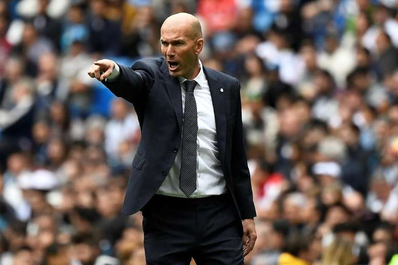 Zinedine Zidane oversaw another poor defeat from Madrid today. AFP