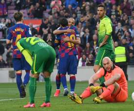 Braithwaite gave Messi for praise. AFP