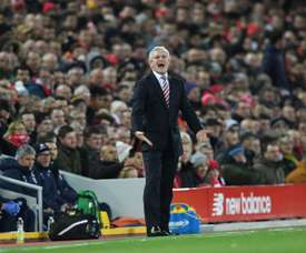 Le technicien de Stoke City est sur le point de recevoir Wimmer. AFP