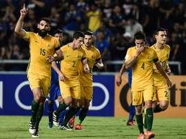 L'Australie continue sa route vers le Mondial. AFP
