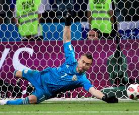 Akinfeev was key in Russia's 2018 World Cup run. AFP