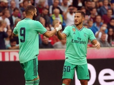 Eden Hazard scored forist goal for Real Madrid in friendly against Salzburg. AFP