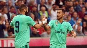 Eden Hazard e Karim Benzema devem estar entre os titulares desse sábado. DUGOUT