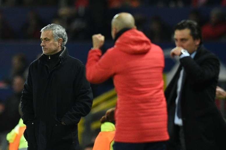 El Sevilla congeló a Mourinho. AFP