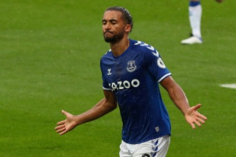 Calvert-Lewin scored as Everton drew 2-2 at Leeds. AFP
