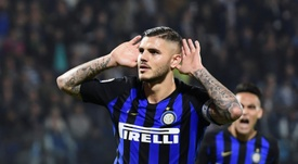 Inter Milan captain Icardi commits his future to Inter. AFP