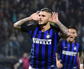 Icardi is Inter's main threat. AFP