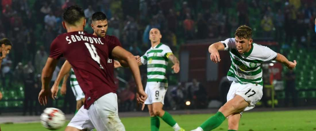 Christie helped Celtic to a convincing win in their SPL opener. AFP