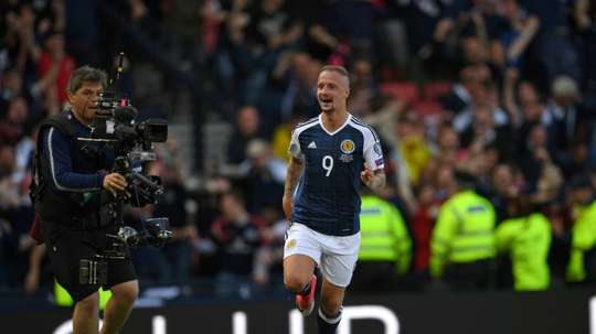 Striker Griffiths withdrew from Scotland duty this month to focus on his fitness. AFP