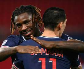 Angel di Maria and Moise Kean got the goals as PSG beat Rennes 3-0. AFP
