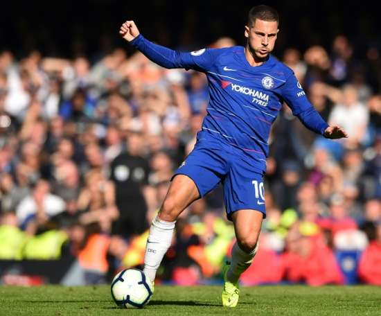 Hazard returned from injury to score against Crystal Palace. AFP
