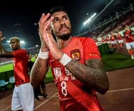 Paulinho continue de briller en Chine. AFP