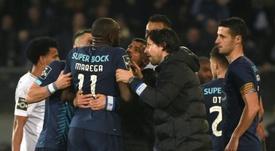 Les supporters de Porto prépare un hommage à Marega. AFP