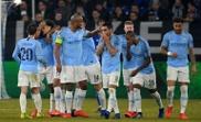 Guardiola comments on the idea of City winning quadruple. AFP