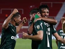 Brazil's Palmeiras leads River Plate of Argentina in Libertadores semi-finals