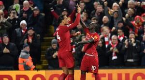 Mané a rendu une belle copie contre Everton. AFP