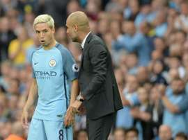 Samir Nasri is also out of Guardiola's plans. AFP