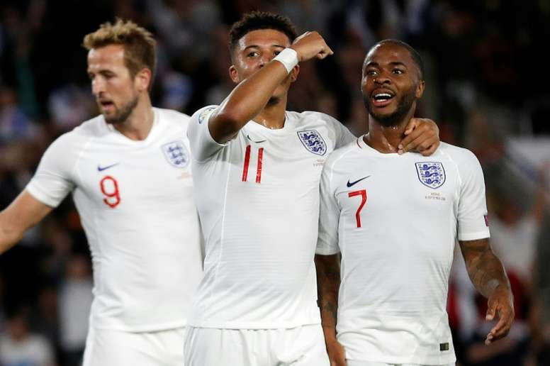 England's flourishing forwards leave Southgate spoiled for choice. AFP