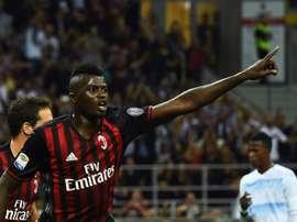 M'Baye Niang in action with Milan