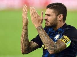 Mauro Icardi no pudo jugar en Singapur por molestias físicas. AFP