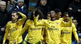 El Arsenal ahoga en la copa las penas europeas. AFP