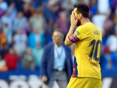 Lionel Messi scored his sixth goal in five games against Levante on Saturday. AFP