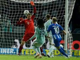 Slovakia midfielder Ondrej Duda scored for Hertha Berlin to put them 2-0. AFP