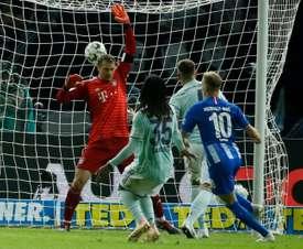 El Bayern perdió 2-0 en Berlín. AFP
