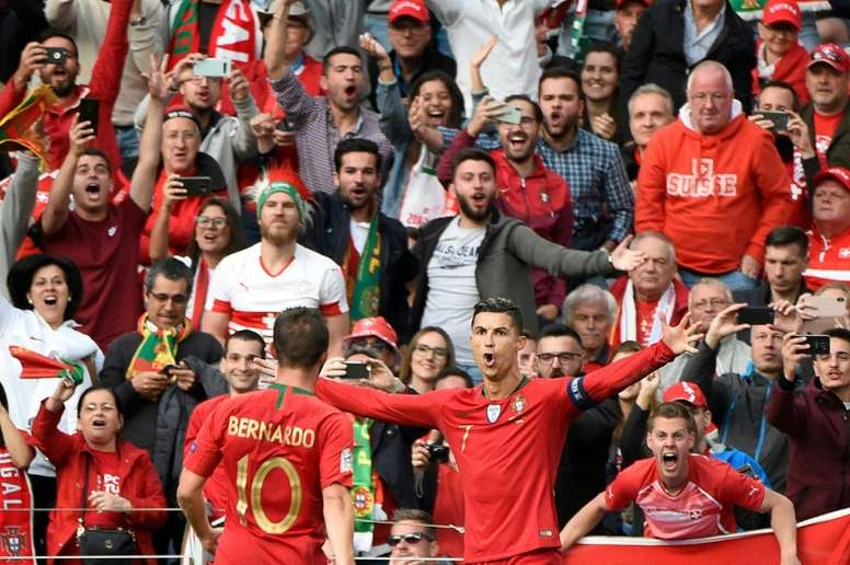 Ronaldo's hat-trick carried Portugal to victory in the semi-finals. AFP