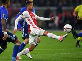 Kluivert continua a brilhar ao serviço do Ajax. AFP