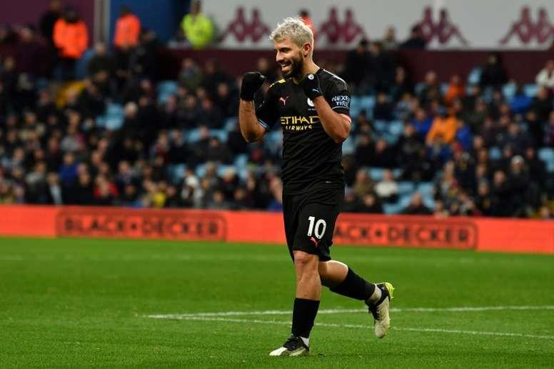 VIDÉO : les 5 plus beaux buts d'Agüero avec Man City. AFP