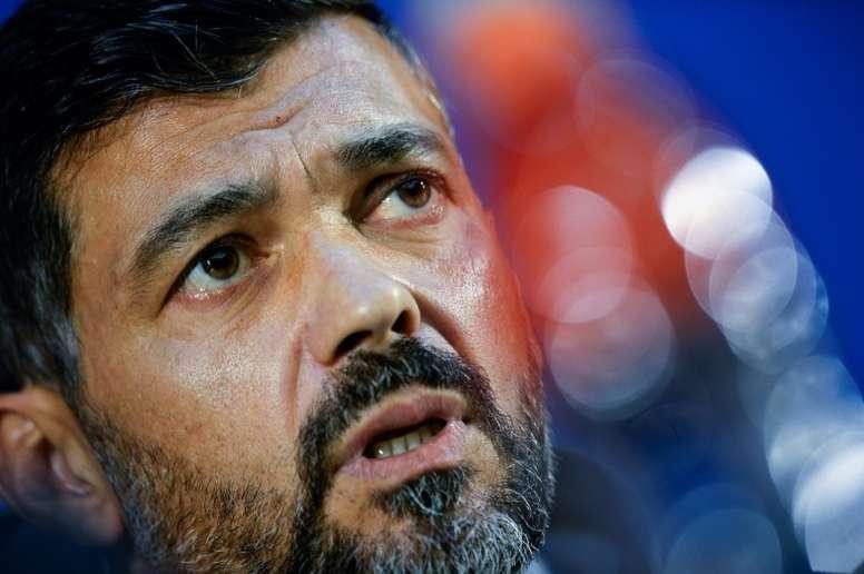 El tremendo cabreo de Conceiçao con Guardiola. AFP