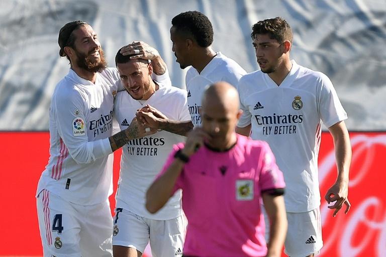 Real madrid beat Huesca 4-1 in a La Liga match