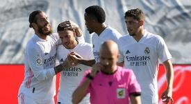Eden Hazard scored as Real Madrid swept aside Huesca. AFP