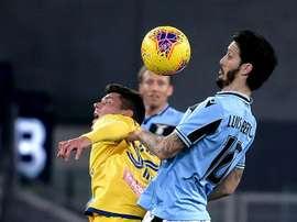 Alberto hit the woodwork twice against Verona. AFP