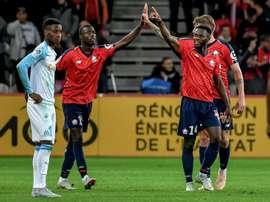 El Lille le ha dado una lección al Marsella. AFP