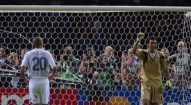 Buffon, único superviviente de la Italia campeona del mundo. AFP