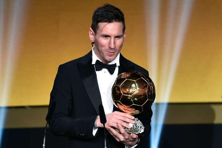 Les supporters voulaient que Messi soit Ballon d'Or. EFE