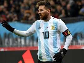 Sergio Romero a couvert d'éloges son compatriote Leo Messi. AFP