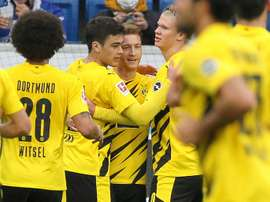 Haalanda and Reus scored for Dortmund. AFP