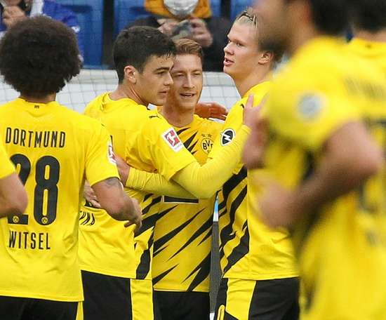 Haalanda and Reus scored for Dortmund. AFP