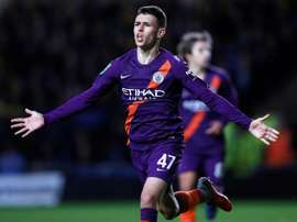 Phil Foden opened his account for Manchester City. AFP