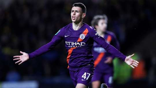 Foden has earned an England U21 call up after some promising performances for City this term. AFP