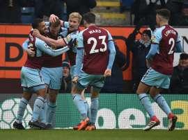 Wood scored Burnley's winning goal. AFP