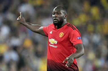 Manchester United striker Romelu Lukaku is hunting the golden boot. AFP