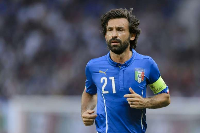 Andrea Pirlo made his final appearance for Italy in 2015. AFP