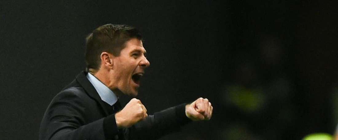 Les Rangers de Gerrard ont vaincu face au Celtic. AFP