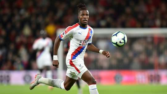 Zaha has made himself a firm fan favourite at Palace. AFP