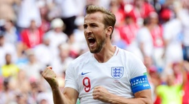 Kane celebrated the birth of his second child. AFP